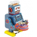 ROBOT PEQUEÑO AZUL TAMBOR